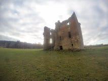 被破坏的Gilbertfield城堡 库存照片