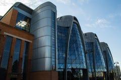 被更新的大厦在市罗兹-波兰 免版税库存照片