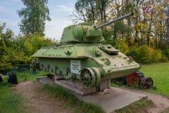 被更新的老坦克 免版税库存照片