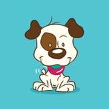 被说明的小狗 免版税图库摄影