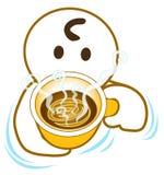 被说服的咖啡 免版税库存照片