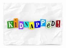 被绑架的词赎金票据威胁被删去的信件 库存例证
