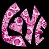 被洗染的爱粉红色符号关系 免版税库存图片