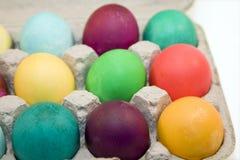 被洗染的鸡蛋 免版税库存照片