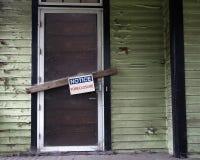 被阻止的房子 免版税库存图片