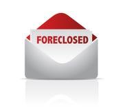 被阻止的邮件信封 免版税库存图片