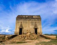 被击毁的寺庙 图库摄影