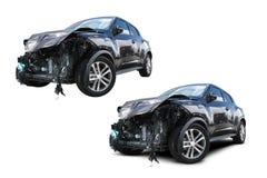 被击毁的汽车 免版税库存照片