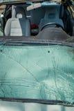 被击毁的汽车 免版税图库摄影