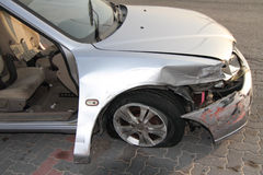 被击毁的汽车 库存图片