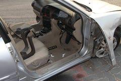 被击毁的汽车 库存照片