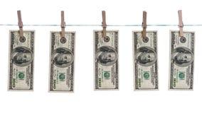 被洗涤的美元概念 图库摄影