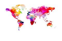被绘的世界地图 免版税库存照片