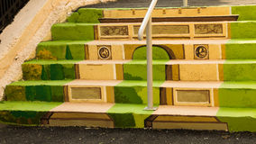 被绘的台阶-胜利曲拱  库存照片
