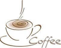 被绘的咖啡杯 库存图片