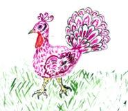 被绘的土耳其鸟 皇族释放例证