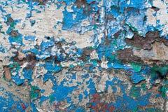 被绘的墙壁的零件 免版税库存照片
