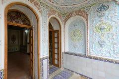 被绘的墙壁,东方装饰品 免版税库存图片