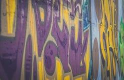 被绘的墙壁 免版税图库摄影