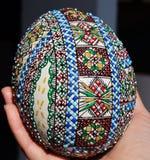 被绘的复活节彩蛋 库存照片