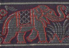 被绣的大象 免版税库存照片