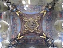 被绘的天花板在凡尔赛宫 免版税库存照片
