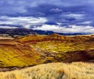 被绘的小山单位-约翰迪化石床国家历史文物 库存照片