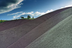 被绘的小山约翰迪化石床国家历史文物,俄勒冈 免版税库存图片