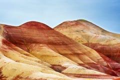 被绘的小山约翰迪化石床 免版税库存照片