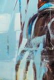 被绘的帆布细节纹理背景 图库摄影