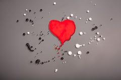 被绘的心脏 库存图片