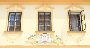 被绘的房子 免版税库存图片