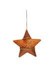 被绣的手工制造圣诞节星 免版税图库摄影
