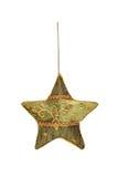 被绣的手工制造圣诞节星 免版税库存图片