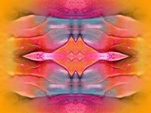 被绘的抽象五颜六色 免版税库存照片
