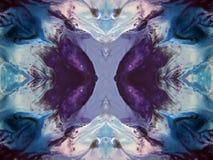 被绘的抽象五颜六色 图库摄影