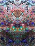 被绘的抽象五颜六色 免版税图库摄影
