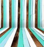 被绘的木板条作为背景 免版税库存图片