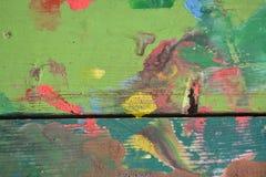 被绘的木长凳 免版税库存照片