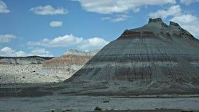 被绘的沙漠在亚利桑那 免版税库存照片
