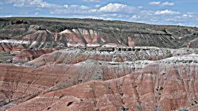 被绘的沙漠在亚利桑那 图库摄影