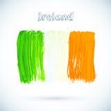 被绘的爱尔兰旗子,传染媒介例证 库存图片