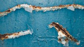 被绘的生锈的墙壁 免版税库存图片