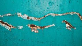 被绘的生锈的墙壁 免版税图库摄影
