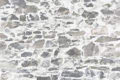 被绘的石墙纹理 免版税库存图片