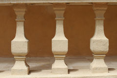 被绘的砖墙块 免版税图库摄影