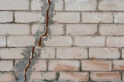 被绘的砖墙 免版税图库摄影