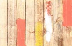 被绘的老木墙壁 免版税图库摄影