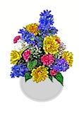 被绘的花的布置 免版税图库摄影
