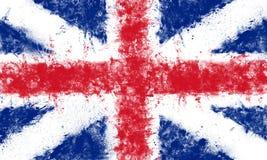 被绘的英国国旗 免版税库存照片